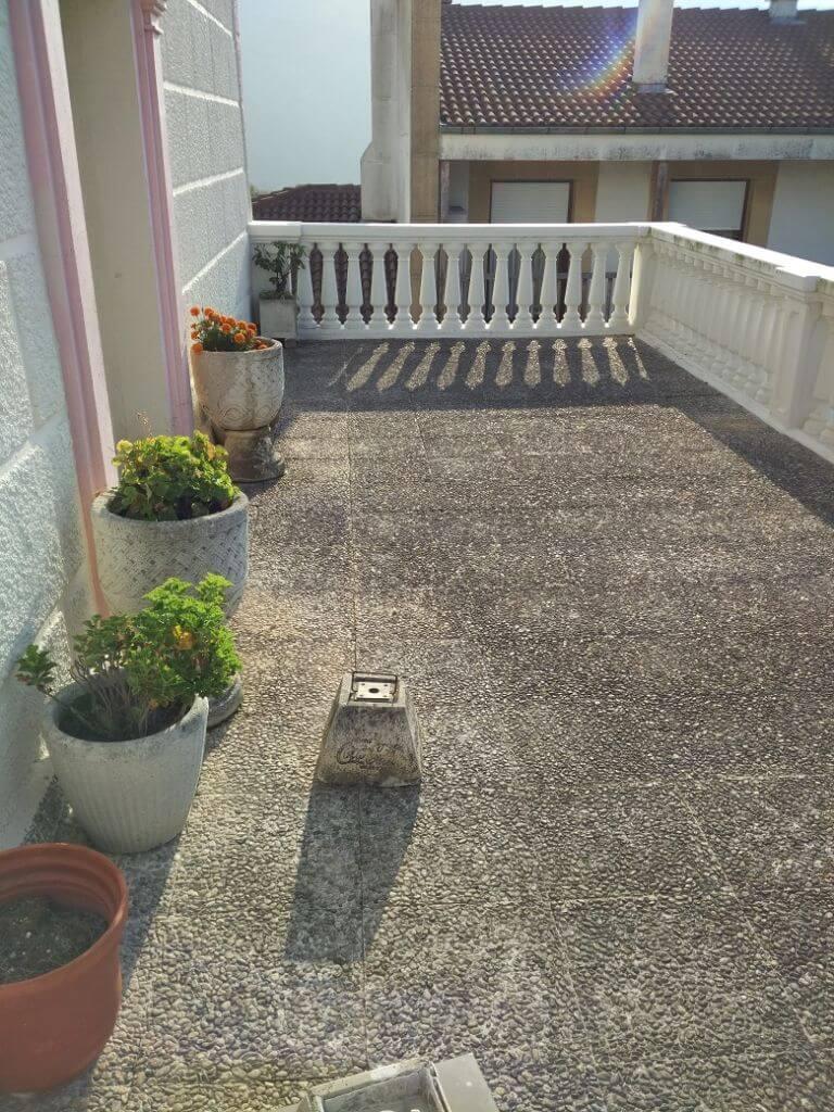 Impermeabilización de terrazas en Bilbao antes